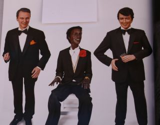 Group of Frank Sinatra Dean Martin Sammy Davis Jr Life Size Wax