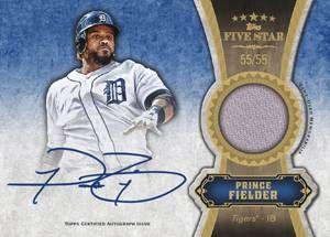 2012 Topps Five Star Baseball Five Star Autograph Relic Card