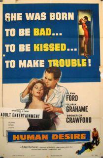 Human Desire Glenn Ford Fritz Lang 1954 Movie Poster 10159