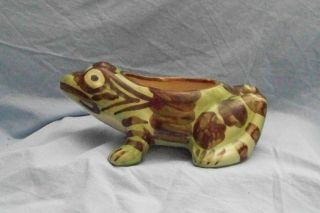 "Brush McCoy Pottery 8"" Frog Planter"