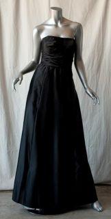 Frank Usher Black Strapless Vintage Gown Dress XS 0
