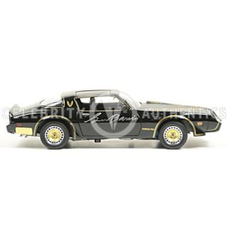 Burt Reynolds George Barris Autographed Smokey and The Bandit Die Cast