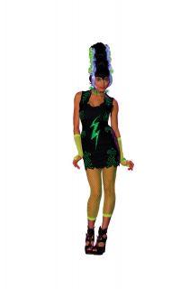 haunted rave franken bride girl skeleton black light glow ladies