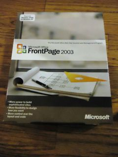 Microsoft Office Front Page 2003 Full SKU 392 02487 SEALED Retail Box