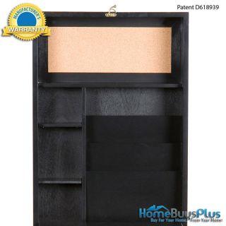 Black Fold Out Convertible Wall Desk Kitchen Spacesaver Corkboard