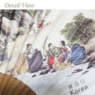 / Beautiful Fans of Korea  Puchae (folding fan) 12 Washing Women 2