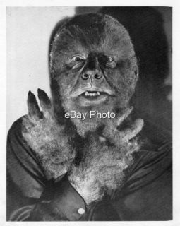 The Wolf Man Publicity Photo Lon Chaney Jr in Jack Pierce Classic