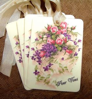 Hang Tags ★ FRENCH FOR YOU FLOWER BOUQUET ★ Gift Tags