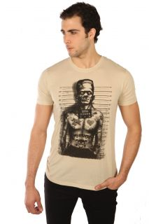 Too Fast Mens Tattooed Monster T Shirt Prisoner Frankie