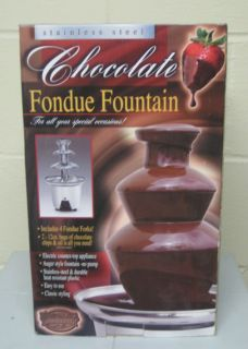 Box Nastalgia Chocolate Fondue Fountain Christmas Gift Or Party Item