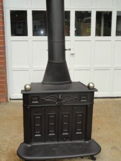 Franklin Heater Model No 98 Cast Iron Wood Stove heater excellent