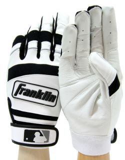 Franklin Player Classic II Leather Pro Batting Gloves Black White