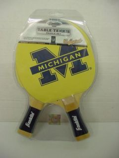MICHIGAN WOLVERINES Table Tennis Paddle PING PONG NEW FRANKLIN SPORTS