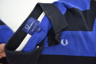 item fred perry blue black polo shirt m medium cotton this item is in