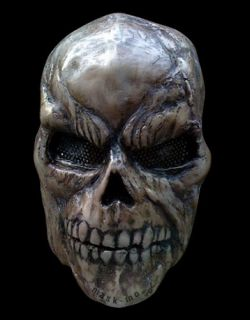 Death skull Full Face Airsoft BB Mask Fiberglass Holloween mask