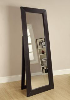 Black Contemporary Full Length Floor Mirror