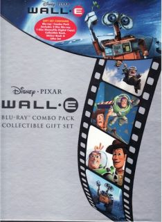Disney Pixar Wall E Blu Ray Combo Collectible Gift Set