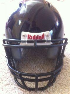 Revolution Football Helmet Navy blue/ Navy Face Mask Adult Medium used