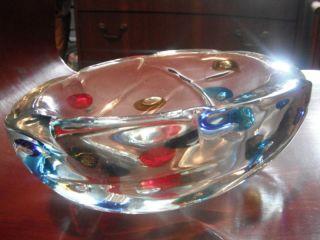 Fulvio Bianconi Art Glass Color Dot Bowl Italy