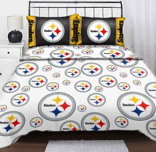 Steelers Logo Twin Sheet Set Football Sheets Sports Bedding