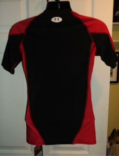 Under Armour Compression Football training shirt Large black red