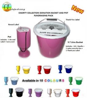 Charity Collection Bucket and Donation Box Pot Fundraising Pack