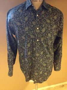 tailorbyrd paisley casual shirt size medium