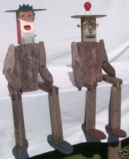 Large and Funky Yard Art People 1 Is Also Birdhouse