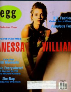 Egg Magazine March 1991 Vanessa Williams She Rap Food