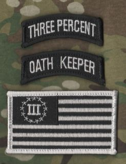 USMC Marines Force Recon Death Sniper Velcro 3 Pcs Oath Keeper 3 ER