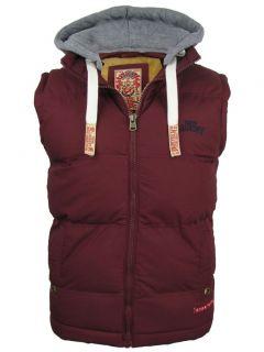 Mens Tokyo Laundry Bookmere gilet Body Warmer Hoodie Jacket Coat