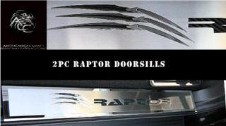 Ford F 150 Raptor 2010 12 Stainless Steel Front Deluxe Logo Door Sills
