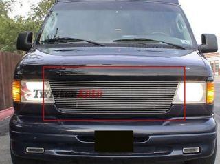 Billet Grille Insert 92   06 Ford Econoline Van Front Grill Upper