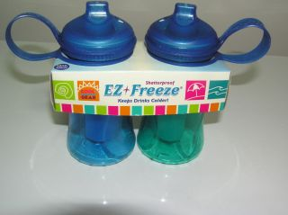 Cool Gear EZ Freeze Water Bottles with Ice Tube Pack Drink Cooler