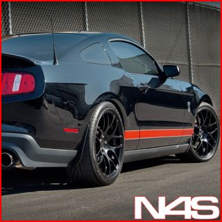FORD MUSTANG SHELBY GT500 CONCAVE MATTE BLACK STAGGERED WHEELS RIMS