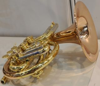Top New Rose Brass Pocket French Horn with Case Cupronickel Tuningpipe