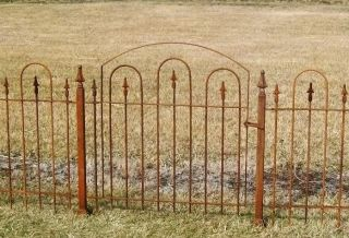 Wrought Iron Gate Goes with 3 Metal Garden Fence