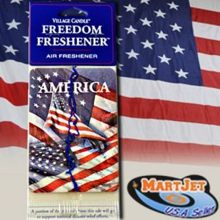 Freshener American USA Pride Flag Patriot Freedom Car Auto Home