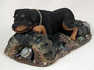 Rottweiler Statue Figurine Home Decor Yard Garden Dog Products Dog