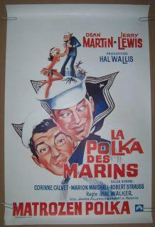 Sailor Beware Belgian Jerry Lewis movie poster