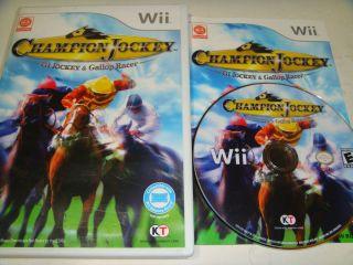 CHAMPION JOCKEY G1 Jockey & Gallop Racer NINTENDO Wii Game+Booklet