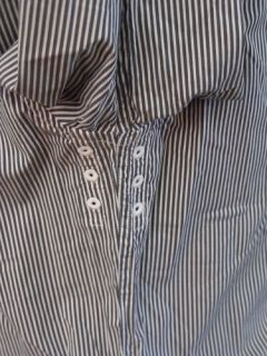 Victorinox Fribourg Grey Striped Button Up Shirt M