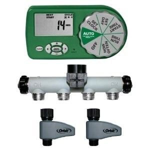 Complete Yard Lawn Watering Sprinkler Hose System Kit w Auto Timer
