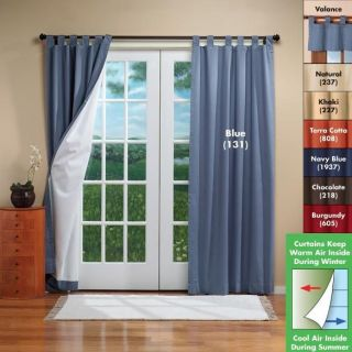 French Door 160 Wide Weathermate Tab Top Insulated Window Curtain