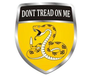 Gadsden Shield Flag DonT Dont Tread on Me American USA Vinyl Sticker