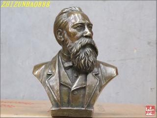 Scientific Socialism Bronze Art Sculpture Friedrich Engels Bust