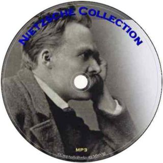 Friedrich Nietzsche Collection 6 Audio Books on 1 DVD Audio  Files