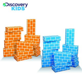 Discovery Kids Eco Friendly Cardboard Building Blocks     Blue