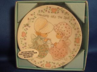 Precious Moments Plaque Plate Friendship Hits The Spot