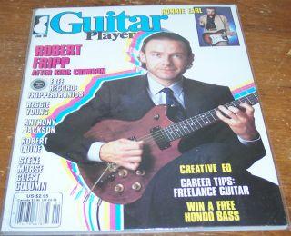 GUITAR PLAYER MAGAZINE JANUARY 1986 ROBERT FRIPP